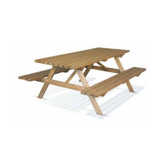 Table de pique-nique en bois 200cm