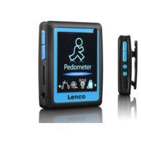 LENCO - PODO-152 - Lecteur MP4/MP3 - 4 Go - Ecran 1,8'' - Podomètre - Lecteur Micro SD - Bleu