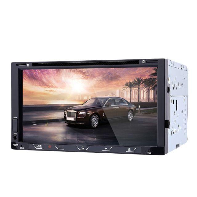 Auto-hightech Autoradio Stéréo de Voiture 7 pouces avec Télécommande - Noir
