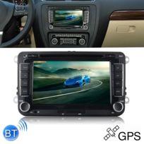 7 Pouces Double Din Voiture Dvd Gps Navigator Radio 1080p Hd Stéréo Lecteur Pour Volkswagen Vw Golf 6 Touran Passat Carte De Soutien Usb Tf Vue