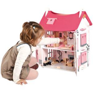 Alin a mado maison de poup es rose en bois pour enfant - Linge de maison alinea ...