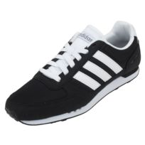 Adidas Neo - Chaussures basses cuir ou synthétique City racer noir neo Noir 45848
