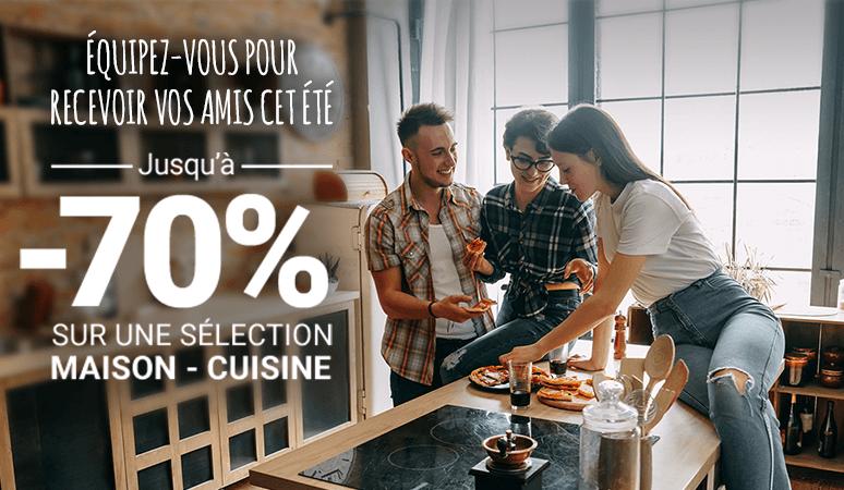 Jusqu'à -70% sur une sélection Maison - Cuisine