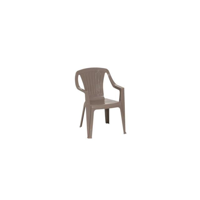 Chaise Tonga L. 37 x l. 36 x H. 53 cm taupe. Dimensions : L. 37 x l. 36 x H. 53 cm. Structure en résine Pvc. Coloris tau