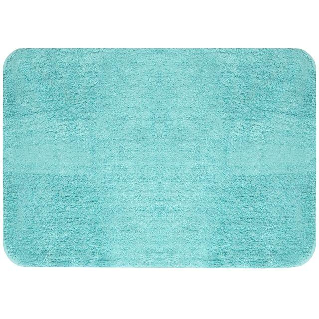 Promobo grand tapis de salle de bain coton molletonn design city bleu azur 50 x70cm pas - Grand tapis de salle de bain ...