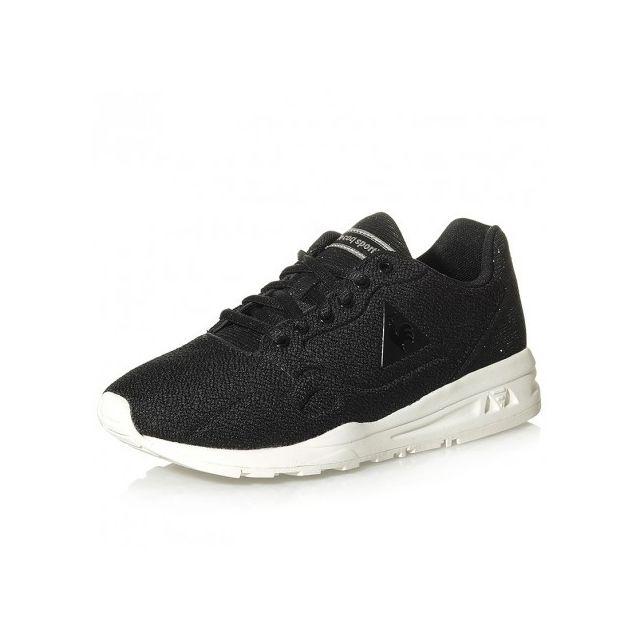 69c45db352e Le Coq Sportif - Chaussures Lcs R9XX Glitter Noir Femme - pas cher Achat    Vente Baskets homme - RueDuCommerce