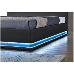 chloe design lit design nemesis noir 140x190 pas cher achat vente structures de lit. Black Bedroom Furniture Sets. Home Design Ideas