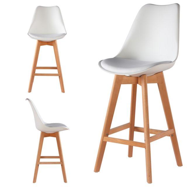 import diffusion 2 chaises hautes tabourets design scandinave blanc skagen pas cher achat. Black Bedroom Furniture Sets. Home Design Ideas