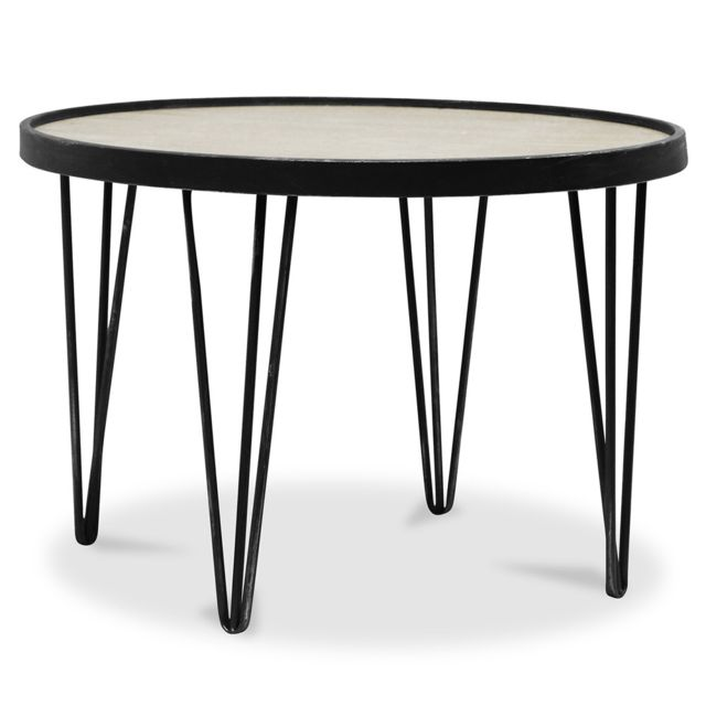 Privatefloor Table basse ronde Hairpin
