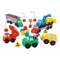 Ecoiffier - Briques de construction Maxi Abrick : 7 véhicules