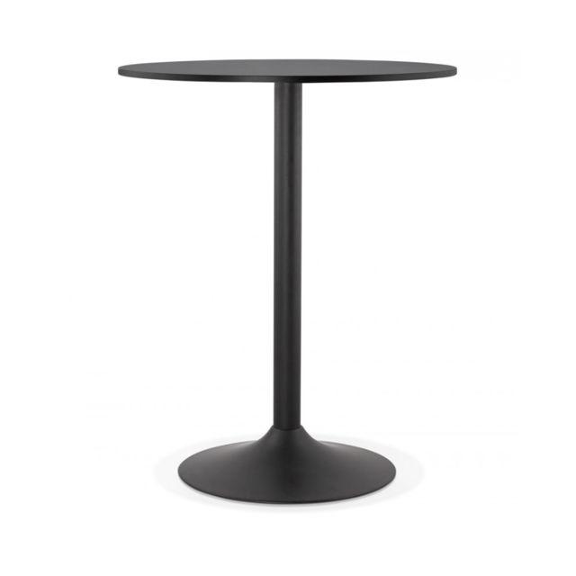 Kokoon Design Table bar design Tapeo Black 90x90x110 cm