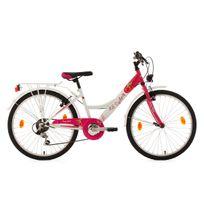 KS CYCLING - Vélo enfant 24'' Cherry Heart blanc-rose TC 36 cm