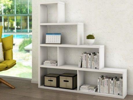 vente unique etag re escalier ascendia 6 niches mdf laqu blanc pas cher achat vente. Black Bedroom Furniture Sets. Home Design Ideas