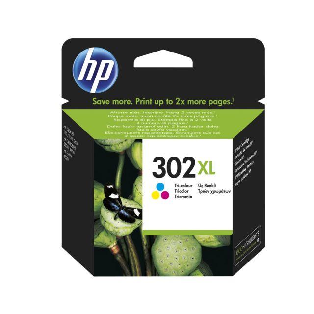 HP Lot de 10 - 302XL cartouche d'encre trois couleurs grande capacité