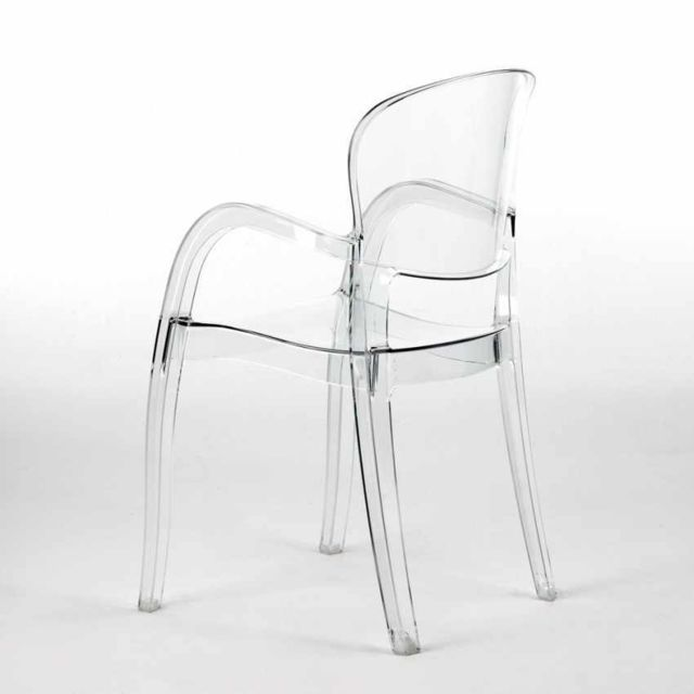 Chaise polycarbonate transparent salle à