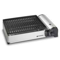 Kemper - Barbecue grill portable à gaz 1.9 Kw compact plaque anti adhesive balcons terrrasses camping table
