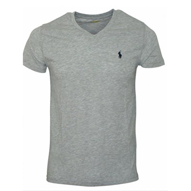 904804ffe32fc Ralph Lauren - T-shirt Gris Col V Taille Xl - pas cher Achat   Vente ...