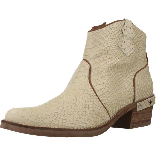 Nemonic Boots, bottines et bottes femme 2104N , Beige