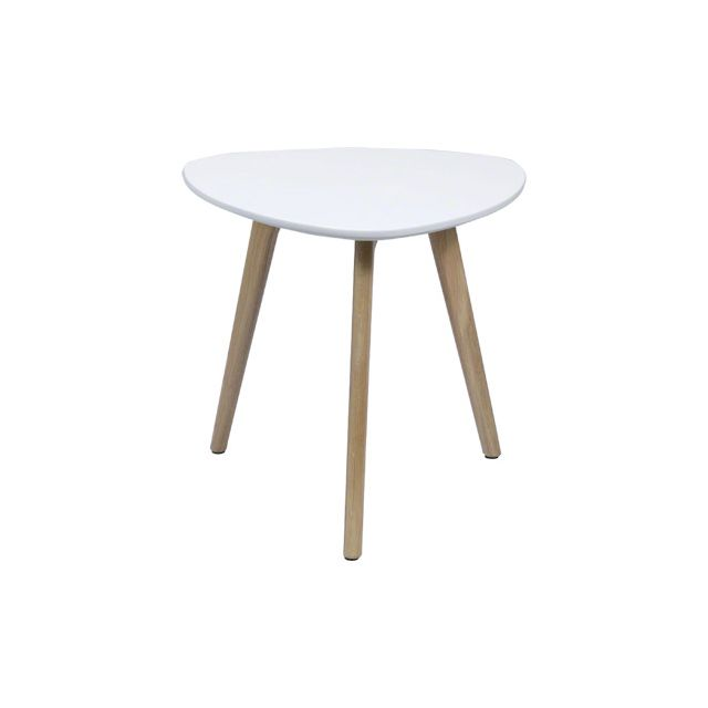 Table basse 50x50x45cm - blanc