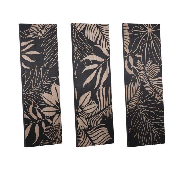 TABLE PASSION Triptyque en bois 120 x 40 cm