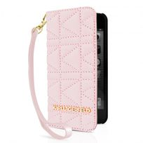 Karl Lagerfeld - Etui Folio Kuilted Rose Pour Apple Iphone 5/5s