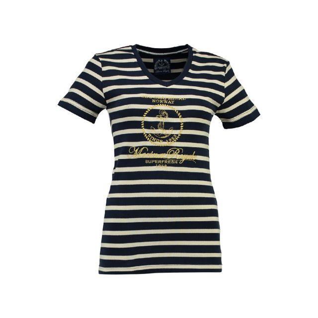eca645fd8980 Geographical Norway - T-shirt Femme Jaffar Marine - pas cher Achat ...
