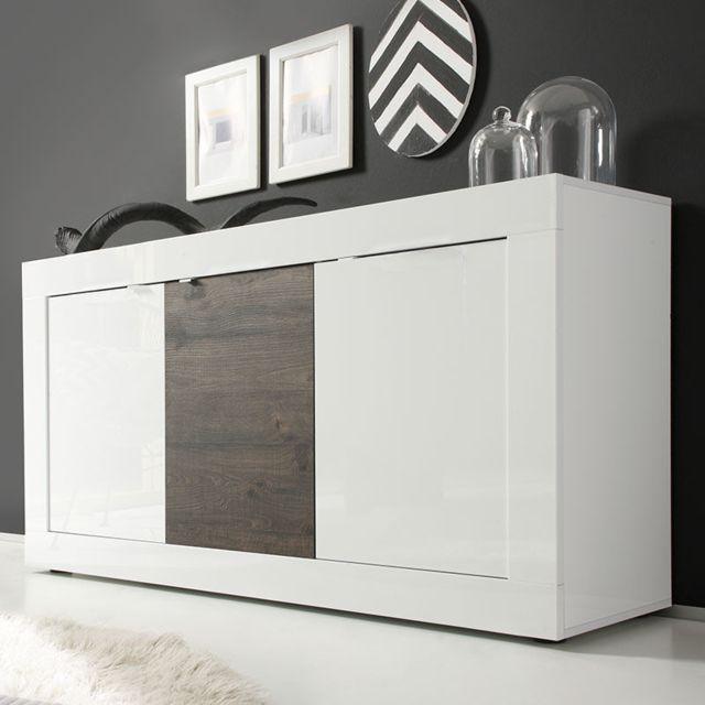 Buffet Design Pas Cher.Buffet Design Laque Blanc Et Wenghe Focia 4