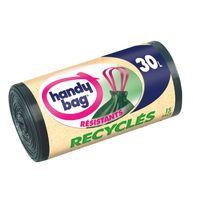 HANDY BAG - Sacs poubelle recyclés - Poignées coulissantes - 30 L - 400057
