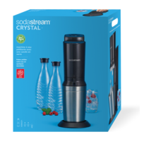 d39c89c3ec3 SODASTREAM - Machine à soda Crystal + 2 carafes + 4 verres - CRYSTALNCV -  Noir
