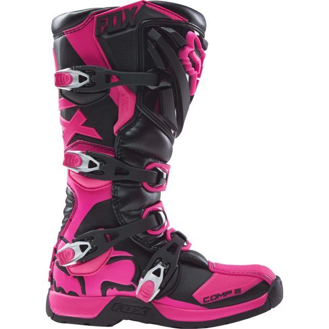 Fox Bottes Moto Cross Comp 5 Black Pink Women 37.5 pas