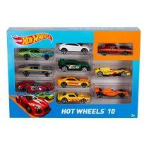 HOT WHEELS - Coffret de 10 véhicules - 54886