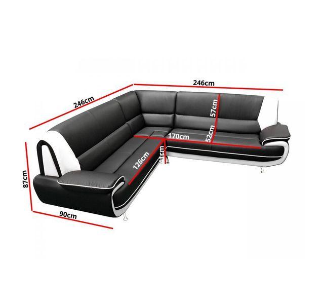 Chloe Design - Canapé d'angle jenna xxl - réversible 250cm x 90cm x 250cm