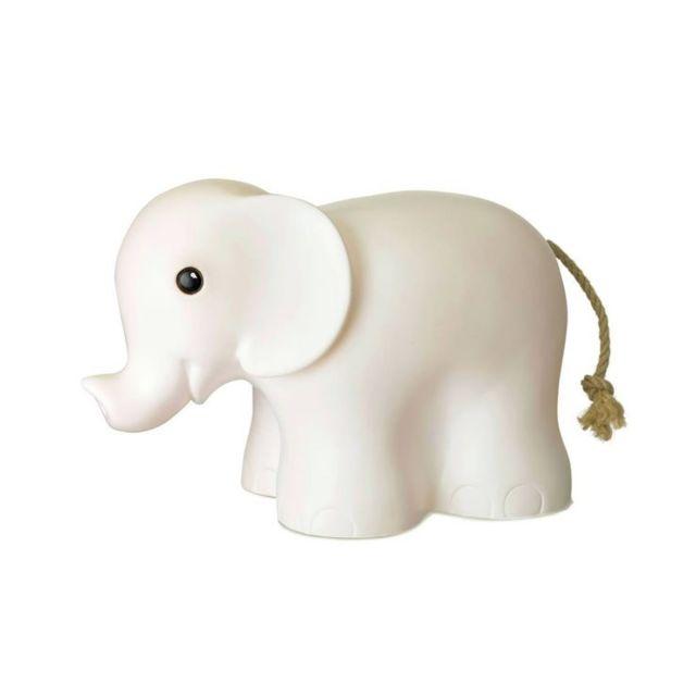 Egmont Toys - Elephant-lampe à poser / Veilleuse Led Eléphant L29cm Blanc - designé par Gaëtane Lannoy
