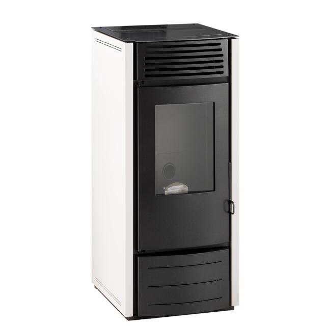 interstoves marina 10 kw blanc option telecommande pas cher achat vente po les bois. Black Bedroom Furniture Sets. Home Design Ideas