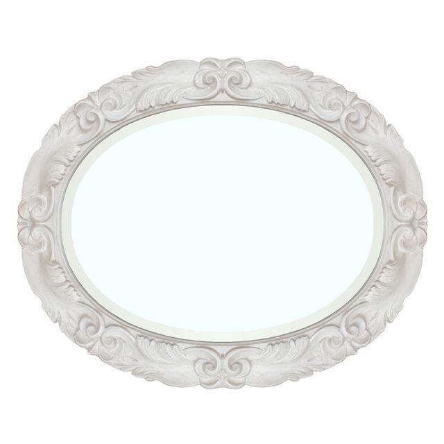Artigiani Veneti Riuniti Miroir ovale blanc Moonlight