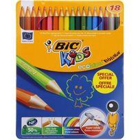 Bic - Crayon de couleur Kids Evolution - Boite métal x18