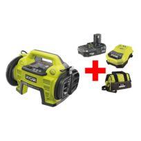 Ryobi - Set compresseur sans fil R18I-L13S 18V One+ batterie + chargeur + sac