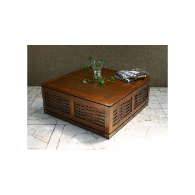 eb26ec64500328 Marque Generique Table basse-coffre Kerala en acajou