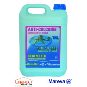 Mareva anti calcaire traitement piscine reva out 5l for Produit anti calcaire piscine
