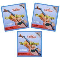Alice - Pack 3 Jeux de 4 cordes pour violon - Neuf sous blister