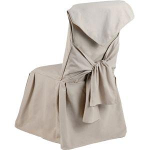 amadeus housse de chaise beige capucine pas cher achat vente nappes rueducommerce. Black Bedroom Furniture Sets. Home Design Ideas