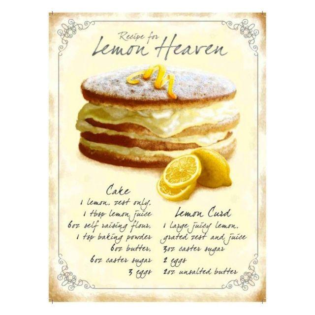 Universel Plaque gateau lemon heaven tole deco boulangerie cuisine