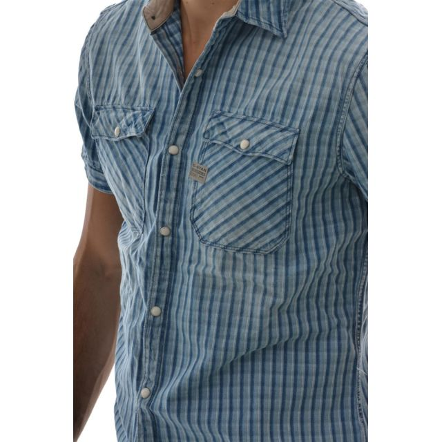 G star raw chemise manches courtes 83355c rudder toulon
