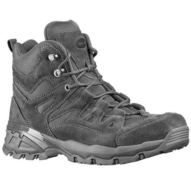 Sans Chaussures Outdoor Homme Haute Qualité En Cuir Miltec Anthracite