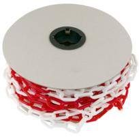 PrimeMatik Poteaux de barri/ère de cha/îne de Files Attente 31x91 cm Rouge Blanc 2 unit/és