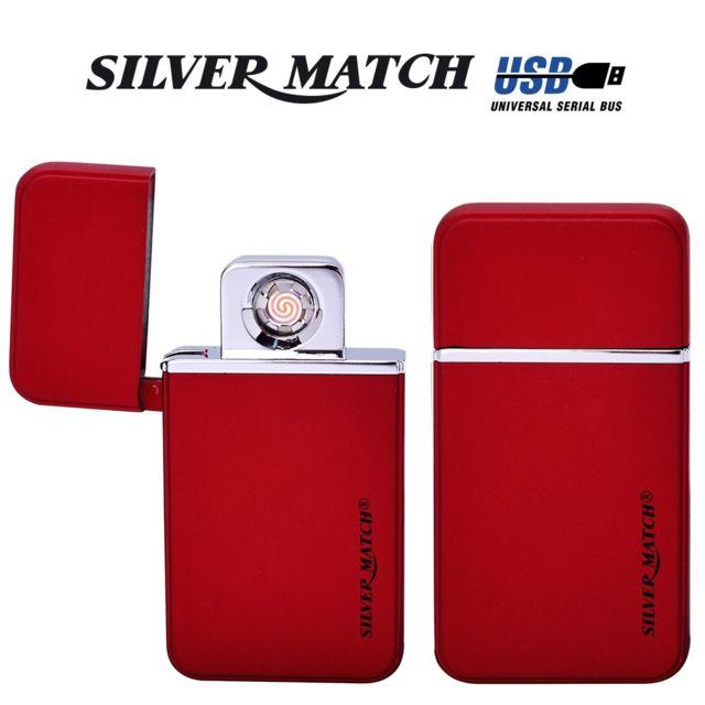 Silver Match Briquet usb Limehouse Silvermatch rouge