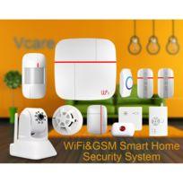 Auto-hightech - Systeme de securite intelligent avec capteur Pir, App iOS + Android, Camera Ip, capteur Porte / fenetre