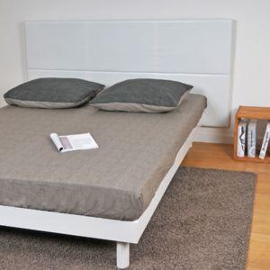 No name t te de lit 140 blanc 90cm x 140cm pas cher - Tete de lit 140 pas cher ...
