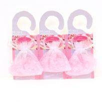 Atmosphera - Lot de 3 perles de senteurs sur cintre - Rose