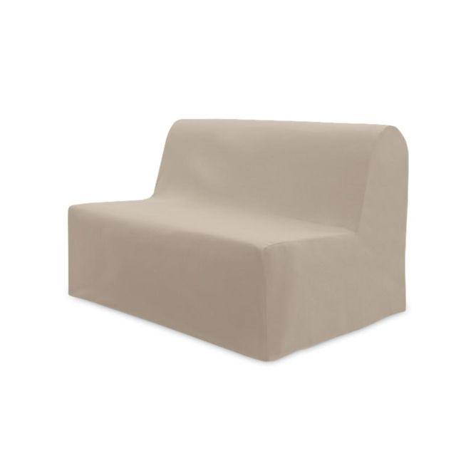soleil d 39 ocre housse de bz en coton panama beige pas cher achat vente housses canap s. Black Bedroom Furniture Sets. Home Design Ideas